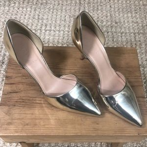 J. Crew Shoes I Elsie Gold Stiletto